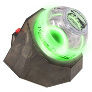 Powerball Platinum Gyro Exerciser with Green Lights and PowerDock